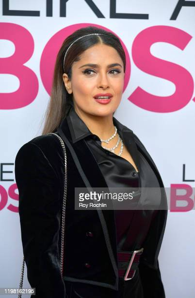 Salma Hayek attends the Paramount Pictures' Like A Boss World Premiere at the SVA Theater on January 7 2020 in New York New York