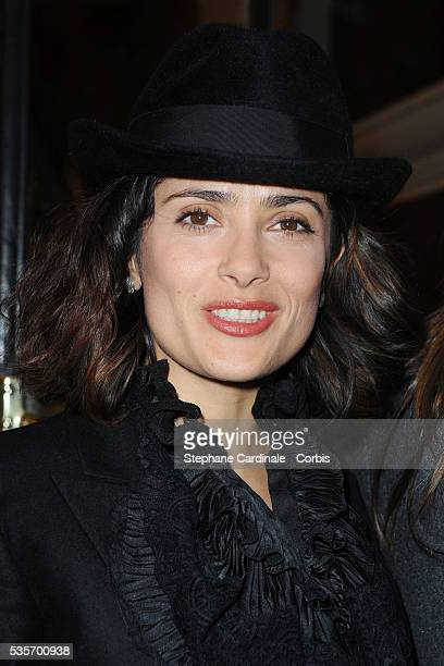 Salma Hayek attends the Premiere of As you Like it directed by Sam Mendes at Marigny Theater in Paris