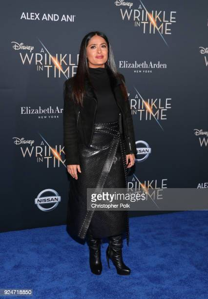Salma Hayek attends the premiere of Disney's A Wrinkle In Time at the El Capitan Theatre on February 26 2018 in Los Angeles California