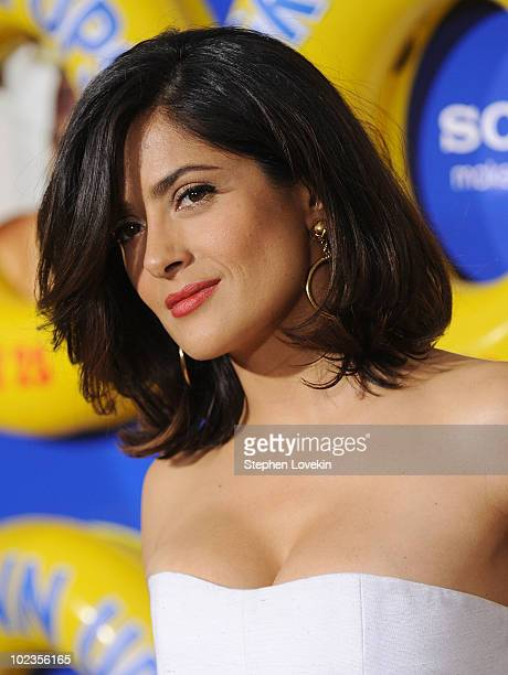 Salma Hayek attends the premiere of Grown Ups at the Ziegfeld Theatre on June 23 2010 in New York City
