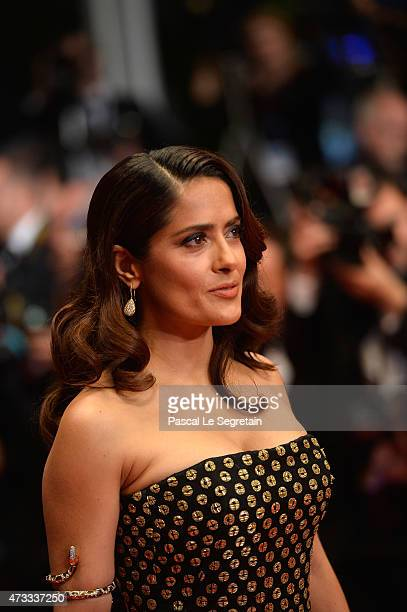 Salma Hayek attends the Premiere of Il Racconto Dei Racconti during the 68th annual Cannes Film Festival on May 14 2015 in Cannes France