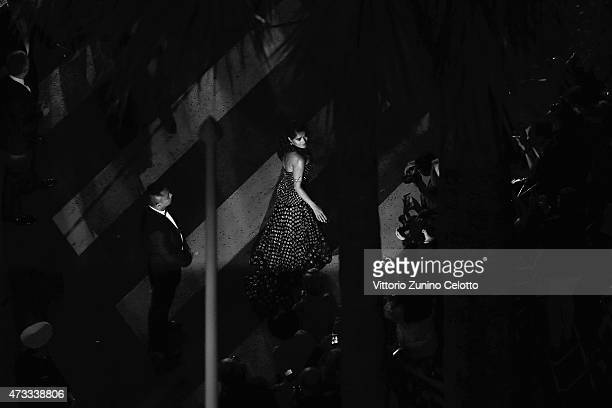 Salma Hayek attends the Premiere of 'Il Racconto Dei Racconti' during the 68th annual Cannes Film Festival on May 14 2015 in Cannes France