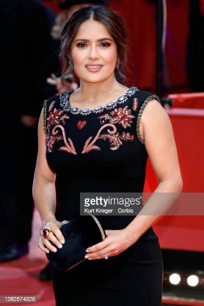 Salma Hayek attends the premiere of 'The Roads Not Taken' at the Berlinale Palast during the 70th Berlin International Film Festival on February 26...