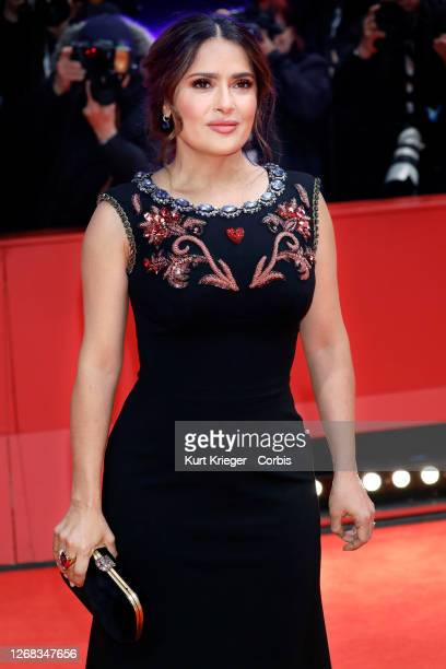 Salma Hayek attends the premiere of 'The Roads Not Taken' at the Berlinale Palast during the 70th Berlin International Film Festival on February 26,...