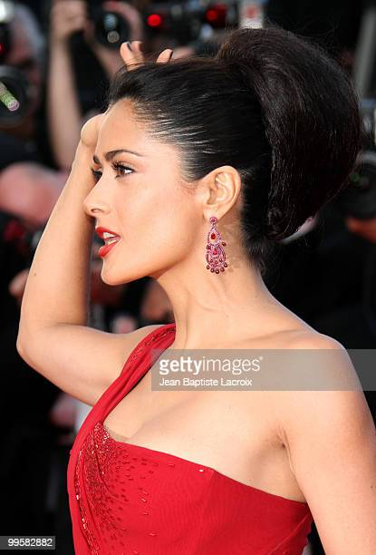 Salma Hayek attends the Premiere of 'Wall Street: Money Never Sleeps' held at the Palais des Festivals during the 63rd Annual International Cannes...