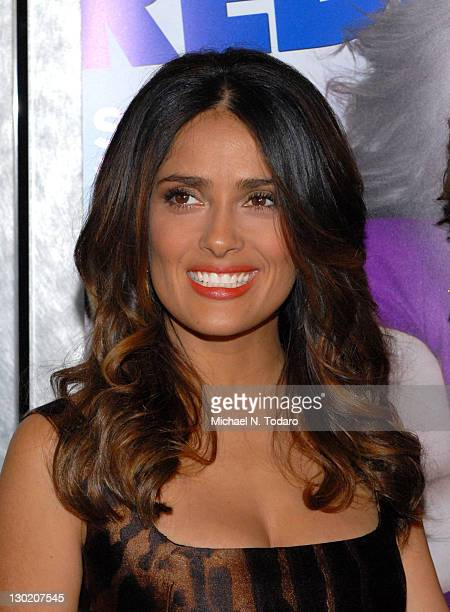 """Salma Hayek attends the """"Puss In Boots"""" New York screening at The Hearst Tower on October 24, 2011 in New York City."""
