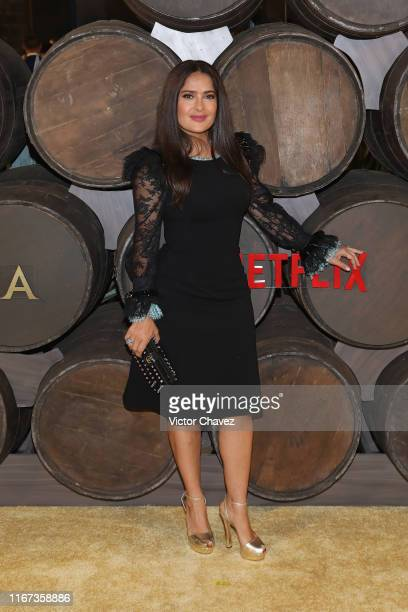 Salma Hayek attends the red carpet of the new Netflix's series 'Monarca at Colegio de San Ildefonso on September 10 2019 in Mexico City Mexico