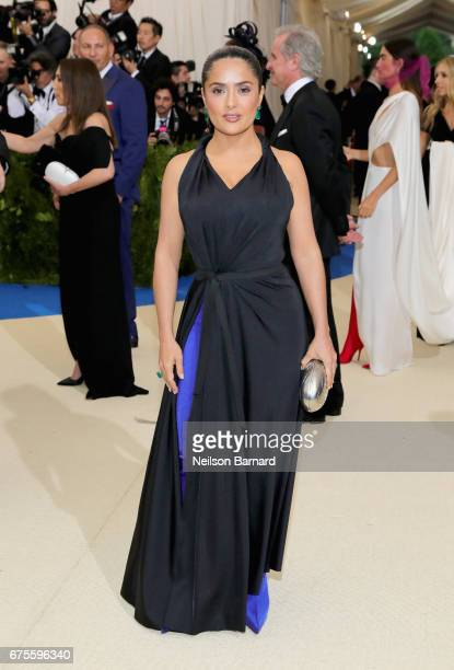 Salma Hayek attends the 'Rei Kawakubo/Comme des Garcons Art Of The InBetween' Costume Institute Gala at Metropolitan Museum of Art on May 1 2017 in...
