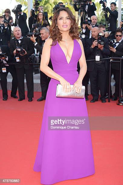 Salma Hayek attends the Rocco And His Brothers Premiere during the 68th annual Cannes Film Festival on May 17 2015 in Cannes France