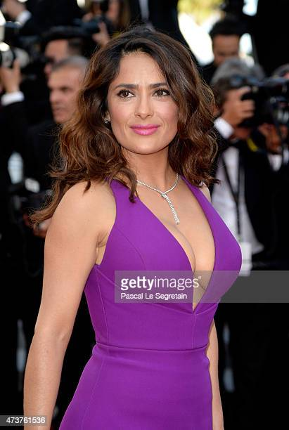 Salma Hayek attends the 'Rocco And His Brothers' Premiere during the 68th annual Cannes Film Festival on May 17 2015 in Cannes France
