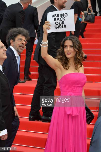 Salma Hayek attends the 'Saint Laurent' premiere during the 67th Annual Cannes Film Festival on May 17 2014 in Cannes France