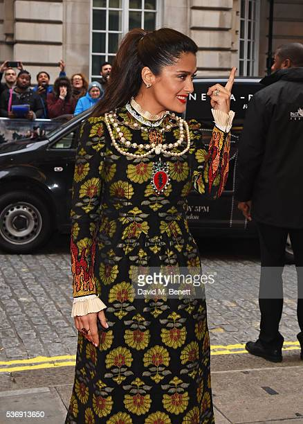 """Salma Hayek attends the UK Premiere of """"Tale Of Tales"""" at The Curzon Mayfair on June 1, 2016 in London, England."""