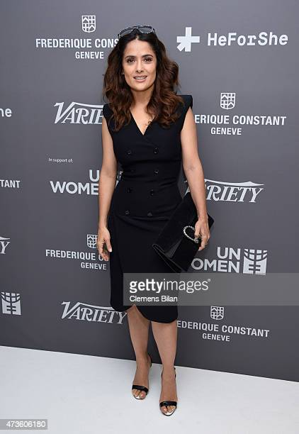 Salma Hayek attends the Variety Celebration of UN Women at Radisson Blu on May 16 2015 in Cannes France