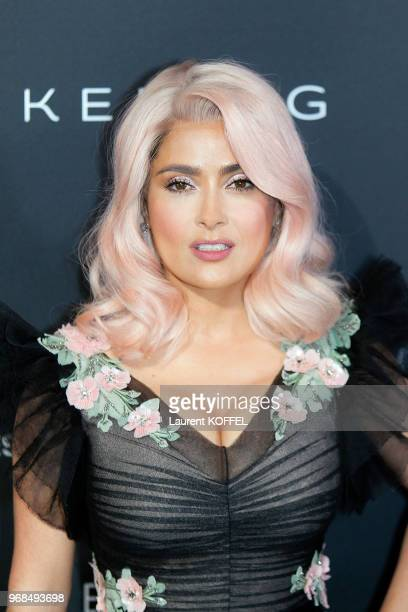 Salma Hayek attends the Women in Motion Awards Dinner at the 70th Cannes Film Festival at Place de la Castre on May 21 2017 in Cannes France