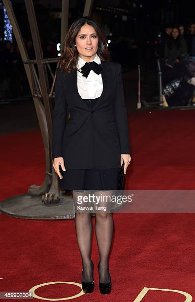 Salma Hayek attends the World Premiere of 'Exodus Gods and Kings' at Odeon Leicester Square on December 3 2014 in London England