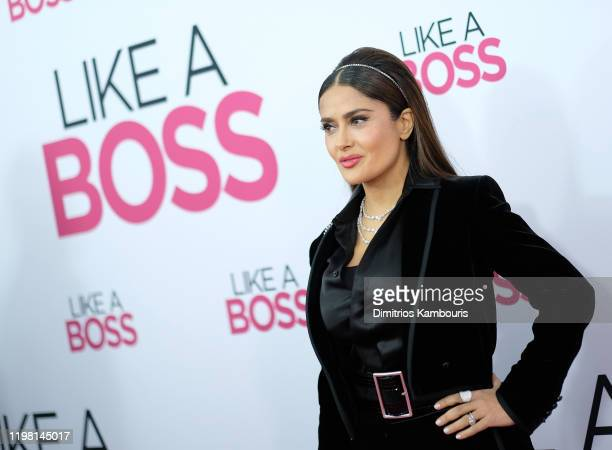 Salma Hayek attends the world premiere of Like A Boss at SVA Theater on January 07 2020 in New York City