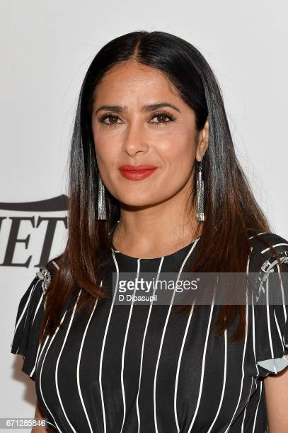 Salma Hayek attends Variety's Power of Women New York at Cipriani Midtown on April 21 2017 in New York City
