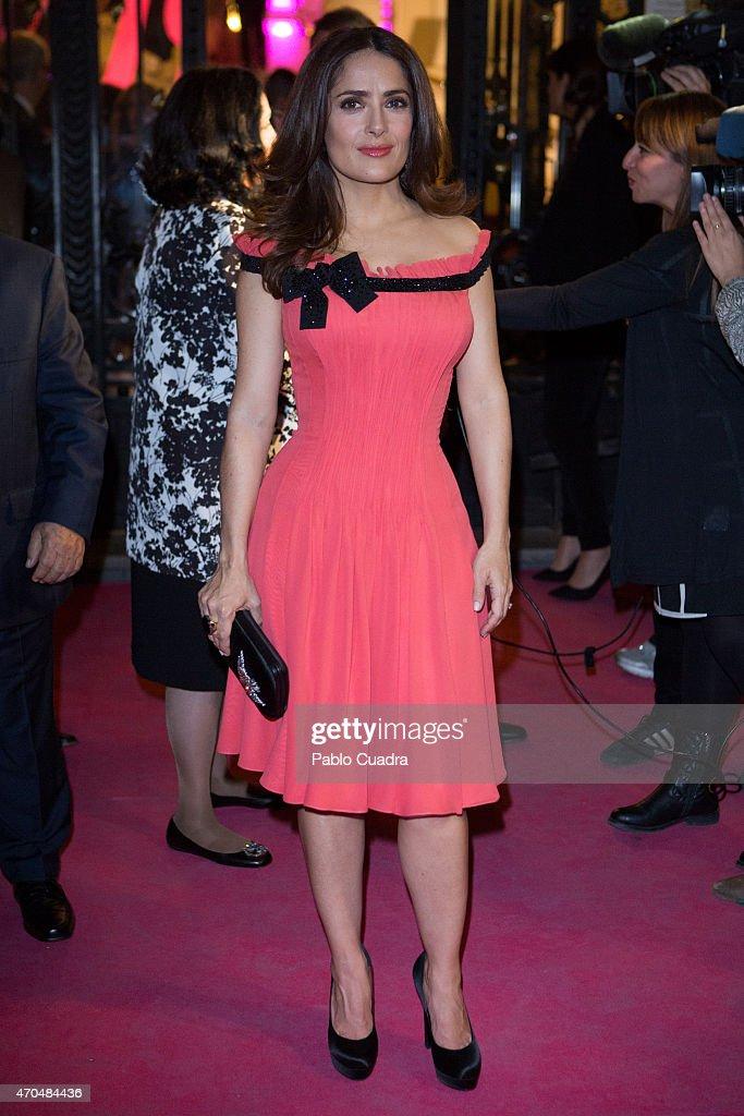 Salma Hayek attends 'Woman Awards' at 'Casino de Madrid' on April 20, 2015 in Madrid, Spain.