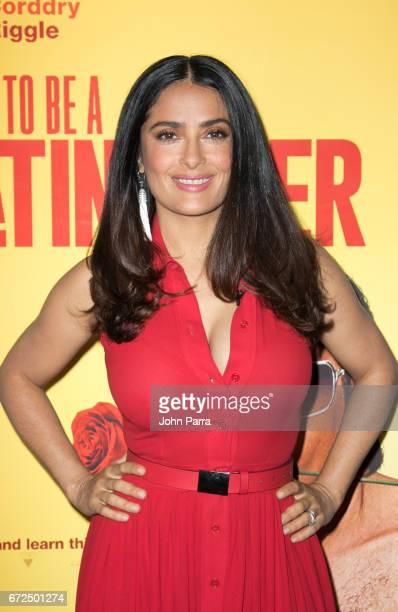 Salma Hayek Celebrities Visit Univision's 'Despierta America' on April 24 2017 in Miami Florida