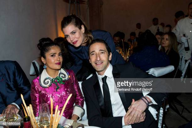 Salma Hayek Charlotte Casiraghi and Adrien Brody attend the Cini party during the 57th International Art Biennale on May 10 2017 in Venice Italy