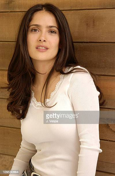 Salma Hayek director/executive producer during 2003 Sundance Film Festival 'The Maldonado Miracle' Portraits at Yahoo Movies Portrait Studio in Park...