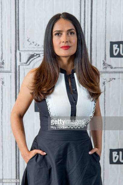 Salma Hayek discusses 'Beatriz At Dinner' with the Build Series at Build Studio on June 7 2017 in New York City