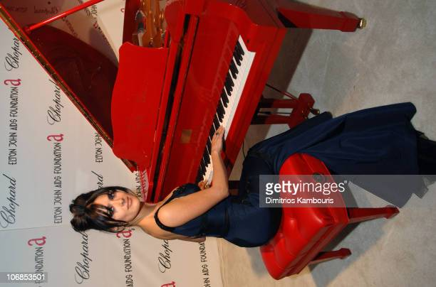 Salma Hayek during 13th Annual Elton John AIDS Foundation Oscar Party Cohosted by Chopard After Party at Pacific Design Center in West Hollywood...
