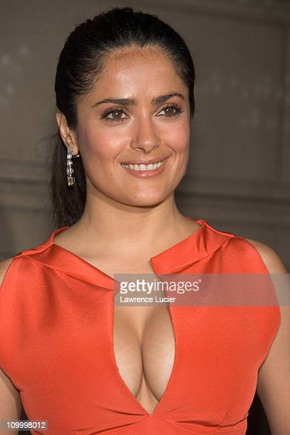 Salma Hayek during Cartier and Interview Magazine Celebrate The Cartier Charity Love Bracelet at The Cartier Mansion in New York City New York United...