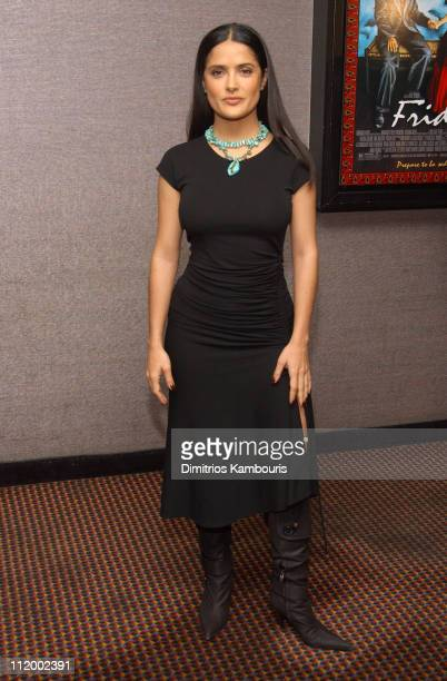Salma Hayek during Frida New York City Special Screening at Cinema II Theater in New York City New York United States