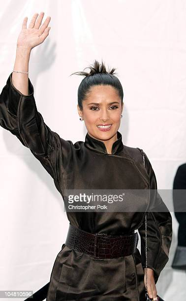 Salma Hayek during Placido Domingo Friends Concert Gala at Dorothy Chandler Pavilion in Los Angeles CA United States