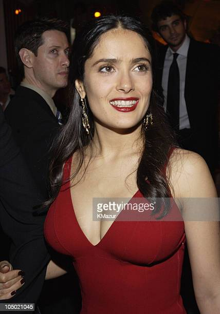 Salma Hayek during The 60th Annual Golden Globe Awards Miramax AfterParty Inside at Trader Vic's in Beverly Hills California United States