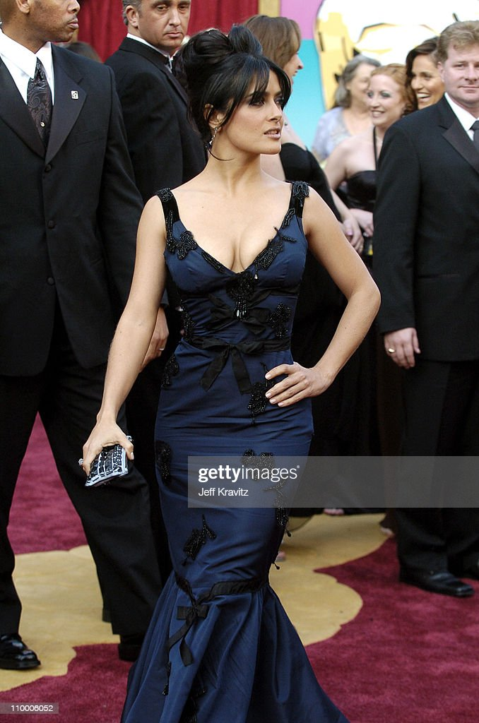 Salma Hayek during The 77th Annual Academy Awards - Arrivals at Kodak Theatre in Los Angeles, California, United States.