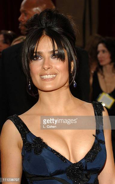 Salma Hayek during The 77th Annual Academy Awards Arrivals at Kodak Theatre in Hollywood California United States