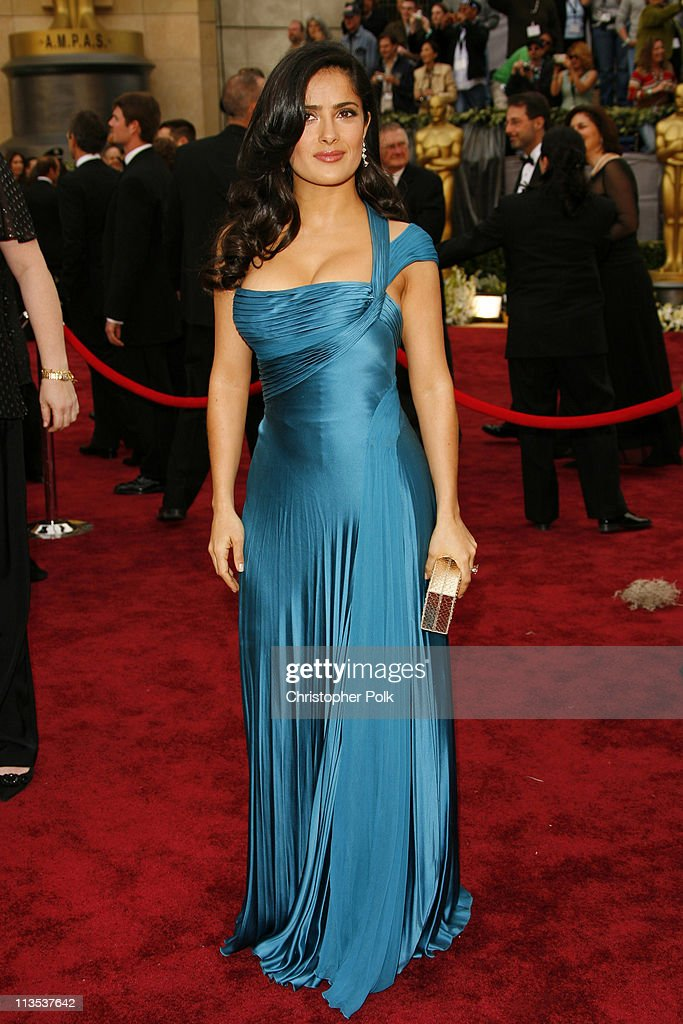 Salma Hayek during The 78th Annual Academy Awards – Arrivals at Kodak Theatre in Hollywood, California, United States.