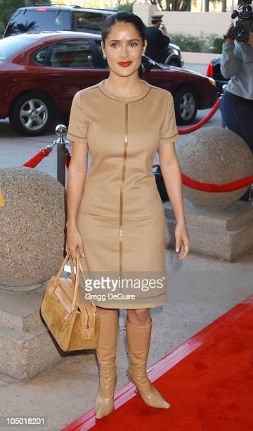 Salma Hayek during The 9th Annual BAFTA/LA Tea Party at Park Hyatt Hotel in Los Angeles, California, United States.