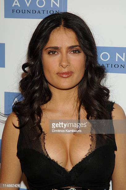 Salma Hayek during The Avon Foundation's 50th Anniversary Celebration Arrivals at American Museum of Natural History in New York City New York United...