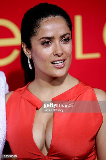 Salma Hayek during The Cartier Charity Love Bracelet Party Arrivals at Cartier in New York City New York United States