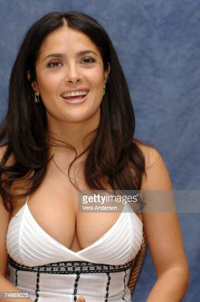 Salma Hayek during Ugly Betty Press Conference with Salma Hayek and America Ferrera at the Regent Beverly Wilshire Hotel in Beverly Hills California