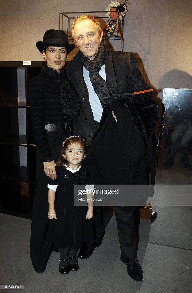 Salma Hayek, Francois Henri Pinault and their daughter
