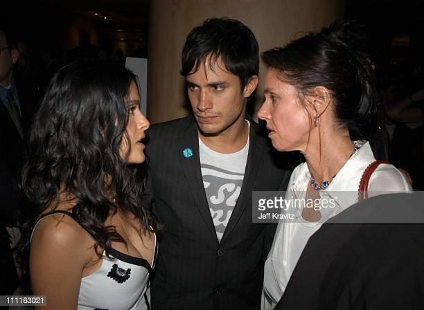 Salma Hayek Gael Garcia Bernal Julie Taymor during Miramax Max Awards at St Regis Hotel in Los Angeles CA United States