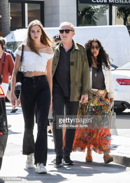 Salma Hayek her husband FrancoisHenri Pinault and Pinault's daughter Mathilde are seen on August 02 2019 in Los Angeles California