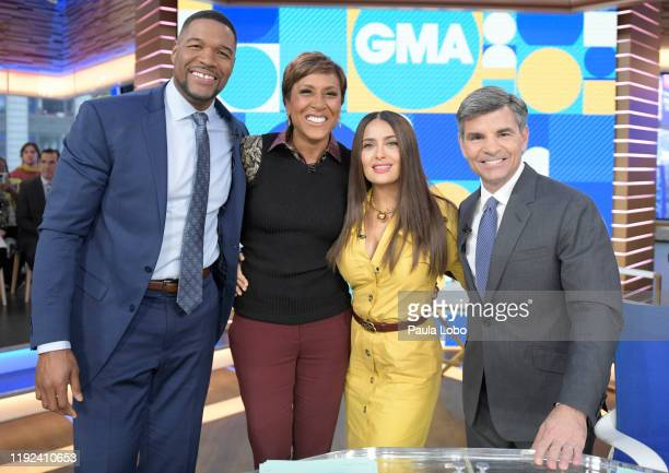 Salma Hayek is a guest on Good Morning America Tuesday January 7 2020 on ABC GMA19 MICHAEL