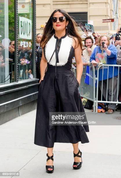 Salma Hayek is seen on June 07 2017 in New York City