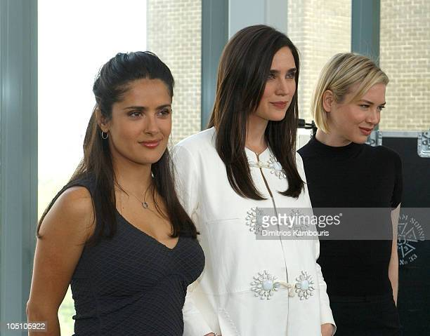 Salma Hayek Jennifer Connelly Renee Zellweger during Louis Vuitton Press Conference for The United Cancer Front Benefit at Louis Vuitton Offices in...