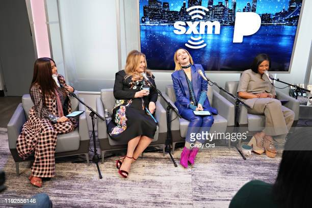 Salma Hayek, Jennifer Coolidge, Rose Byrne and Tiffany Haddish speak during SiriusXM's Town Hall with the cast of 'Like A Boss' hosted by Hoda Kotb...