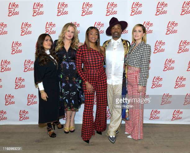 Salma Hayek Jennifer Coolidge Tiffany Haddish Billy Porter and Rose Byrne attend the Paramount Pictures' Like A Boss Photocall at the Whitby Hotel on...