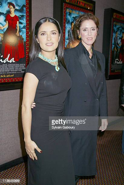 Salma Hayek Julie Taymor during Miramax Holds Premiere Screening of Frida Event Hosted by Mexican Tourism Board at Cinema II in New York City New...