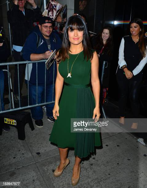 Salma Hayek leaves the 'Wendy Williams Show' taping at Chelsea Studios on September 17 2012 in New York City