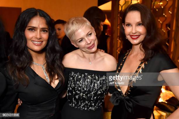 Salma Hayek Michelle Williams and Ashley Judd attend HBO's Official 2018 Golden Globe Awards After Party on January 7 2018 in Los Angeles California