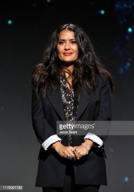 Salma Hayek of 'The Eternals' took part today in the Walt Disney Studios presentation at Disney's D23 EXPO 2019 in Anaheim Calif 'The Eternals' will...